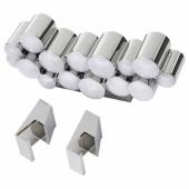 СЁДЕРСВИК Светодиодная подсветка шкафа/стены, светло-серый/хромированный