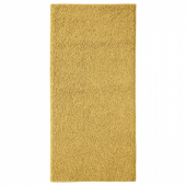 АЛЛЕРСЛЕВ Ковер, длинный ворс,желто-коричневый